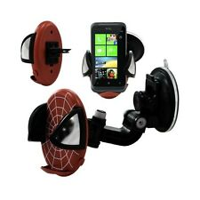 Support universel auto 2en1 pour HTC Radar motif toile couleur rouge
