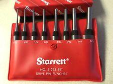 Starrett 8pc Drive Pin Punch Set In Case S565pc 52587
