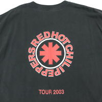 Red Hot Chili Peppers Roadie T-Shirt XL 2003 Tour Nicely Faded Black