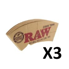 3X RAW Cone Tips Paper Roach Filter Chlorine free Tips Filter Roach