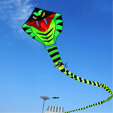 NEW 15m Power Cyan Cobra Snake Kite Outdoor Fun Sports easy to fly SINGLE LINE