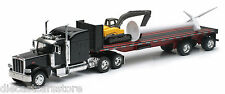 NEW RAY PETERBILT FLAT BED WITH WIND TURBINE & EXCAVATOR 1/32 Diecast SS-10333