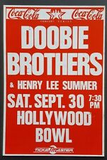 DOOBIE BROTHERS Vintage Boxing Style Concert Poster Hollywood '89 Steely Dan