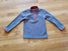 Under Armour Gray Fleece Quarter Zip Jacket Boy's Size 7