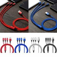 3 in 1 Multi USB Type C Micro Lightning Charging Cable For iPhone Android Phones