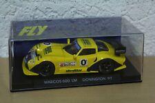 Marcos LM 600 1997 Donington #0 Amarillo 1:32 FLY Slot Slotcar Box