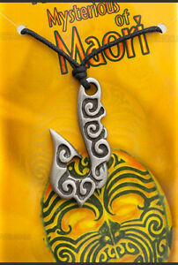Pendant With Cord/Rope Tribal Ethnic Maori IN Pewter Protection AD1 7956