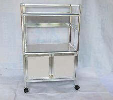 1X Beauty Salon Utility Trolley Cabinet Cart 85cm High