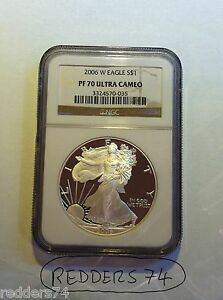 2006-W LIBERTY EAGLE $1 ONE DOLLAR SILVER PROOF 1oz COIN NGC PF70 ULTRA CAMEO