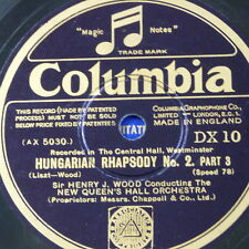 """78rpm 12"""" orphan COLUMBIA DX 10"""