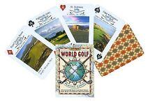 World Golf PLAYING CARDS Poker golfing deck