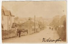 UK DEVON ROBOROUGH REAL PHOTO POSTCARD VIEW LEADING INTO VILLAGE CIRCA 1910