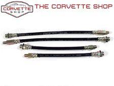 C2 C3 Corvette Rubber Brake Line Kit - Set Includes 4 Hoses  DOT Approved x2570