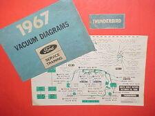 1967 FORD THUNDERBIRD HARDTOP 4 door LANDAU FACTORY ORIGINAL VACUUM DIAGRAMS OEM