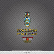 01208 Maclean Bicycle Stickers - Decals - Transfers