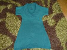 FAB WARM WINTER CHUNKY KNITTED JUMPER DRESS / TUNIC – SIZE SMALL