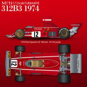 Model Factory Hiro 1/12 Ferrari 312B3 1974 item K769 - new kit
