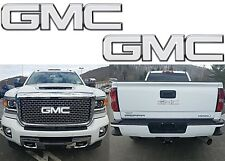 Colormatched Summit White Vinyl Bowtie Overlays For 2001-2018 GMC Sierra New USA