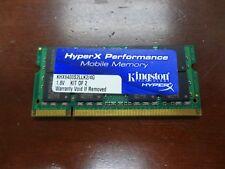 KINGSTON  2GB DDR2-800 PC2-6400 800Mhz KHX6400S2LLK2/4G LAPTOP RAM MEMORY