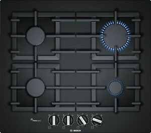 Bosch Gas Hob 23 5/8in Autark Glass Cooktop Gas Range Black Gas Cooktop New 4