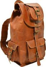Unisex New Vintage Real Pure Leather Backpack Rucksack Handmade Travelling Bag