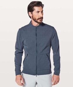 mens lululemon airing easy bomber full-zip jacket navy size large