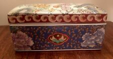 Macau VTG Hand Painted Box Large with Bird Design
