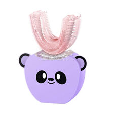 Purple Electric Toothbrush Automatic Mouth-mounted Cute U-shaped For Kid& Child