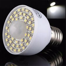 E27 PIR Infrared Motion Sensor 45 LED Light Lamp Bulb 240V SMD Pure White