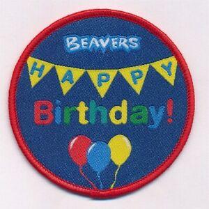 BEAVERS HAPPY BIRTHDAY FUN BADGE OFFICIAL BEAVER UNIFORM STOCKISTS NEW