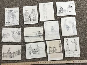 Collection 34 Hand Drawn original drawings pen & Ink Pencil , Comic Caricatures