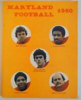 Vintage Football Media Press Guide University Of Maryland 1980