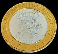 """.999 $10 Silver Strike • Bally's Casino • Las Vegas • Running """"7""""  Low G Logo"""