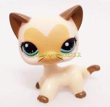 Littlest Pet Shop Cream Tan Brown Short Hair Cat Kitty Heart Face CN-2
