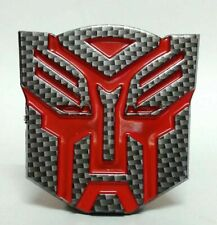 NEW Carbon Fiber Transformers Autobot Emblem Badge Decal Trunk Sticker For CARS