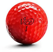 24 Golf Balls- Vice Pro / Flamingo Mix Neon Red AAAA