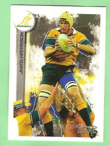 2003  RUGBY UNION CARD  #86  JUSTIN HARRISON, AUSTRALIAN WALLABIES