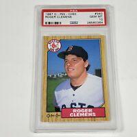 1987 Roger Clemens Boston Red Sox #340 PSA 10 Gem Mint O Pee Chee (Not Topps)