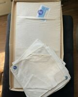 Vintage Tablecloth and Napkin Set Belgium Linens of Distinction 62 x 82 NOS