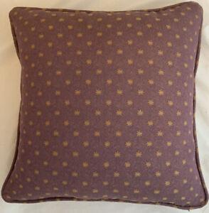 A 16 Inch cushion cover in Laura Ashley Stella Aubergine Fabric