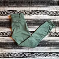 Women's Gap Sz 4 Low Rise Modern Stretch Skinny Crop Capri Jeans Light Green