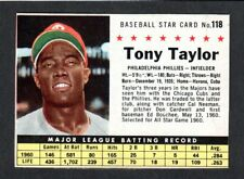 1961 POST CEREAL #118 Tony Taylor  PHILLIES ( Box Version )  EX-MINT  A