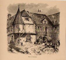Stampa antica SOBERNHEIM vecchia casa Germania 1878 Alte Stich Old antique print