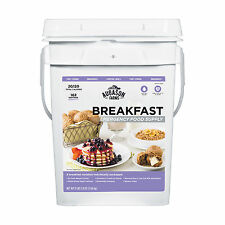 Emergency Survival Food Freeze Dried Supply 30 Day MRE Storage Pail Breakfast