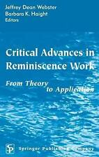 Critical Advances in Reminiscence Work: From Theory to Application-ExLibrary