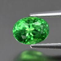 Ravishing! 1.23ct 6.5x5mm Oval Natural Shocking Green Tsavorite Garnet, Tanzania