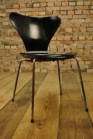 60er Vintage Arne Jacobsen 3107 Stuhl Fritz Hansen Dining Chair schwarz No 10