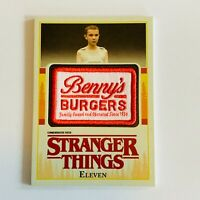 2018 Topps Stranger Things Eleven Benny's Burgers Patch Card P-EV