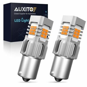 2PC 1156 50W 4000LM High Power LED Amber Turn Signal Brake Tail Lights Bulbs