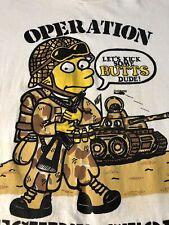 Vintage Bart Simpson Shirt Xl Bootleg Rap Tee Hip Hop 90s Round Two Rock Metal